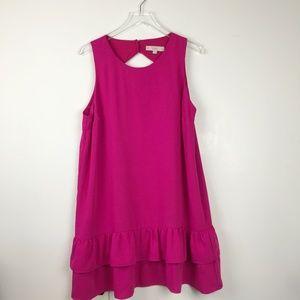 Ann Taylor LOFT| Back Cutout Ruffle Hem Dress 18P